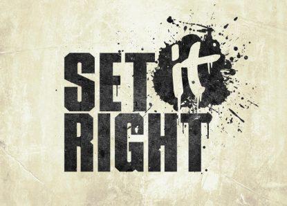 Set It Right: Neuvorstellung